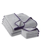 Limited Edition Ultra-Plush Towel Collection, graphite/purple